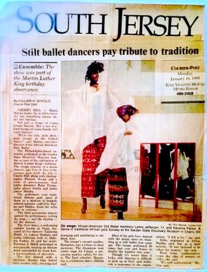 Stilt Ballet Article from Courier-Post